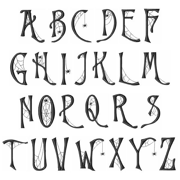 Hopscotch Home Format Fonts Embroidery Fonts: Cob Web Font 1.50 ...