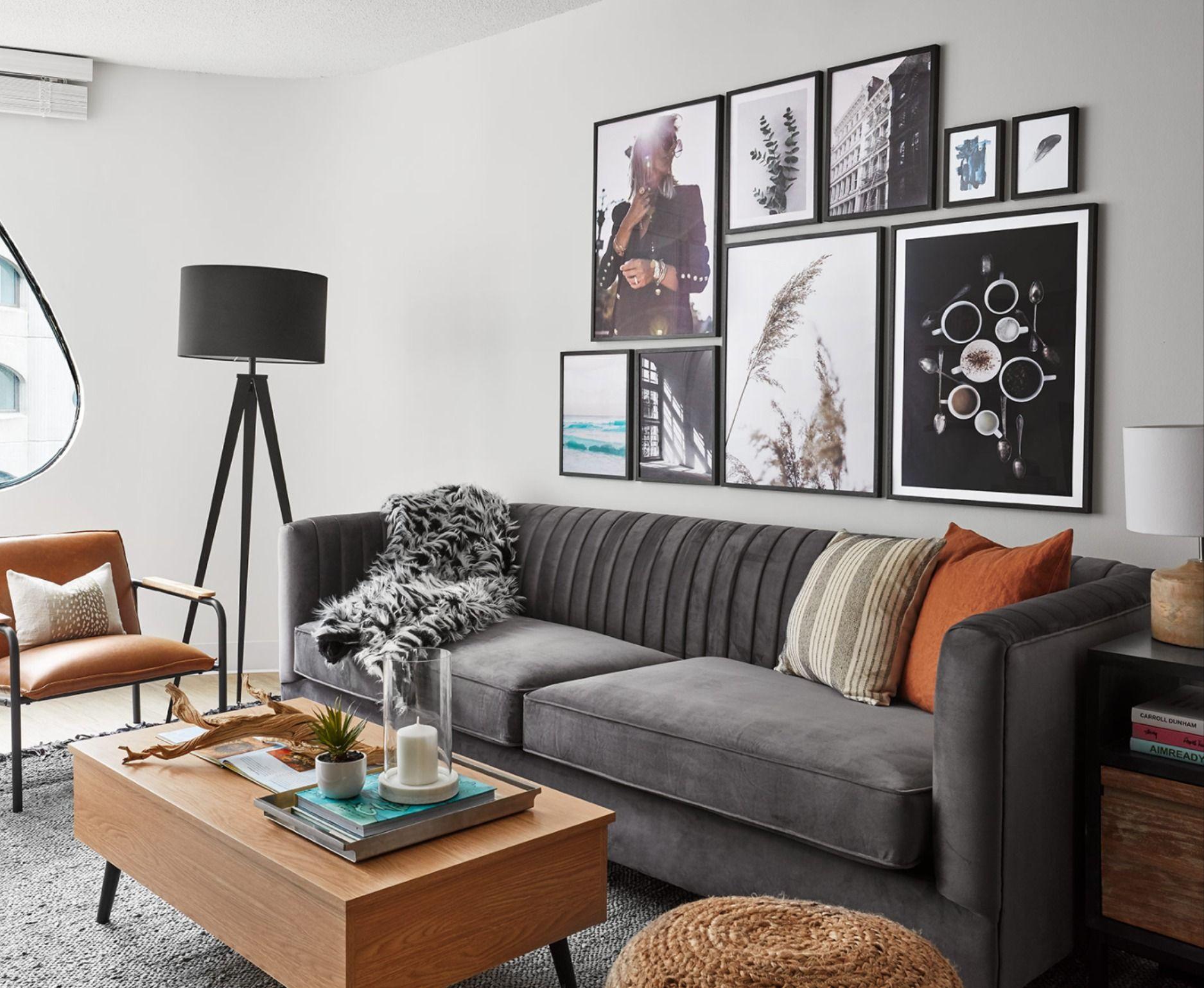 Modern Retro Living Room – Devon Grace Interiors