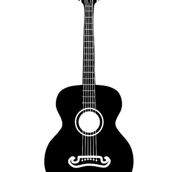 Acoustic Guitar Silhouette By Annartshock Guitar Acoustic Acoustic Guitar