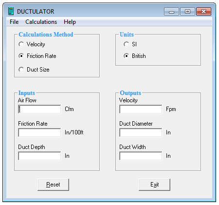Download Ductulator Software For Hvac Duct Sizing For Free Hvac Duct Hvac Filters Duct