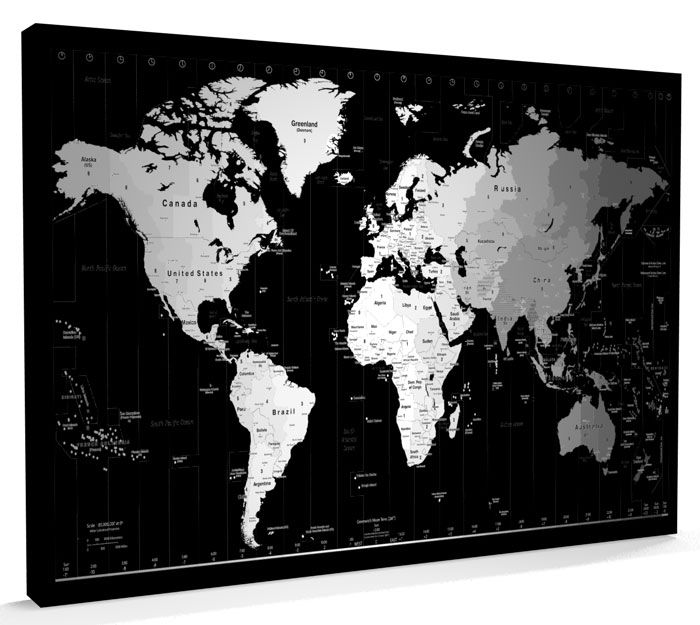 Httpss3 eu west 1azonawsartpauseuppic290 world map michael tompsett premium thick wrap canvas wall art print entitled world timezone map none gumiabroncs Images
