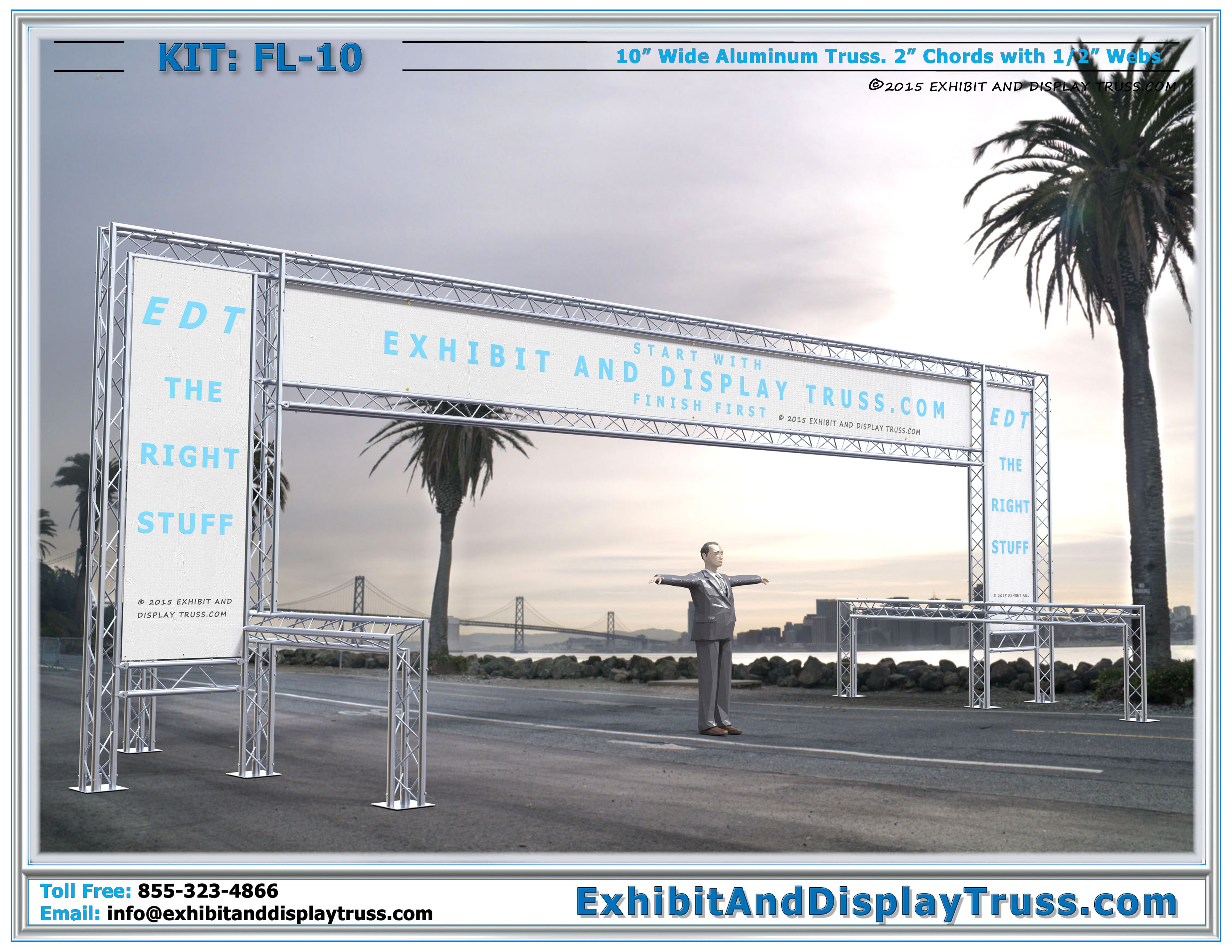 Finish Line Kit FL-10. Best Reviewed Portable Truss Archway for 5k ...