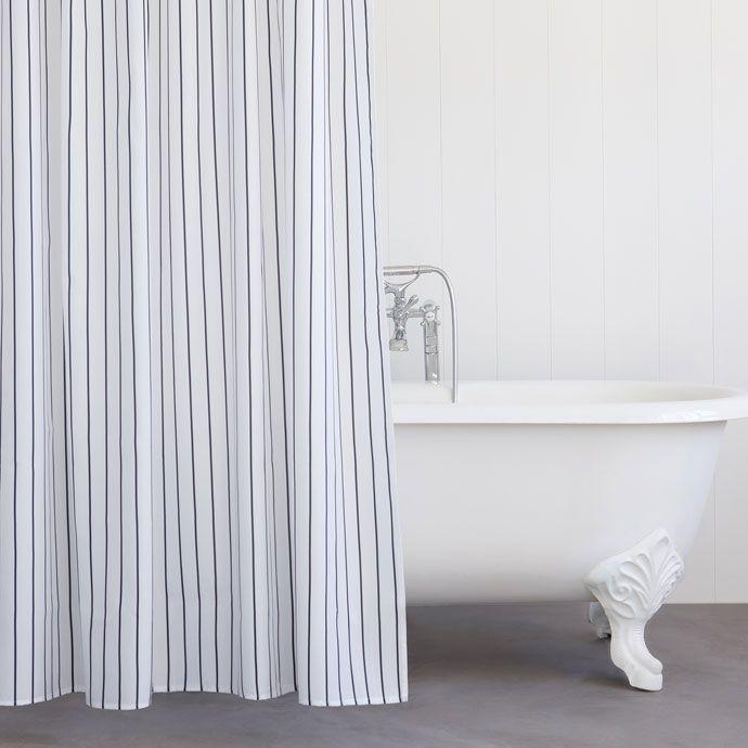 pinstripe shower curtain curtains