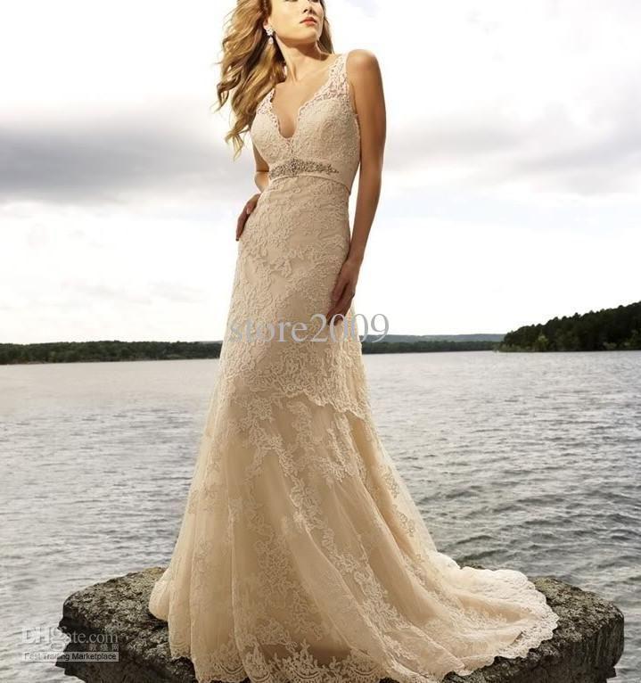 lace-champagne-wedding-dress