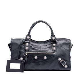 dde772c0f05c Black Balenciaga Giant 21 Silver Part Time bag