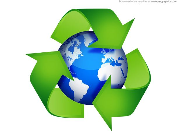 Recycling Icon Button And Symbol In Green Color Environmental