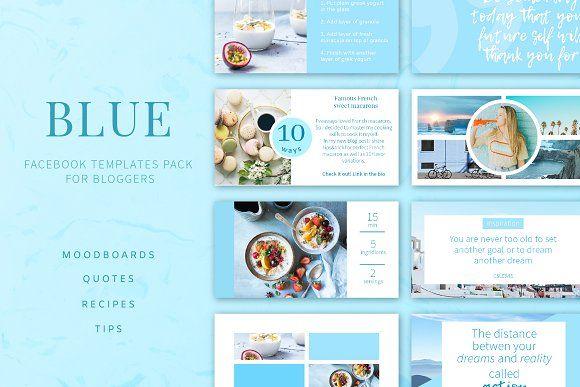 Blue Facebook Post Templates Pack Creativework247 Photoshop