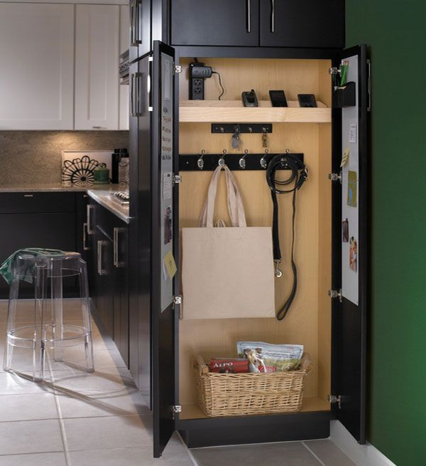 Mobile Device Charging Stations For A Neat And Tidy E Kitchen Cabinets