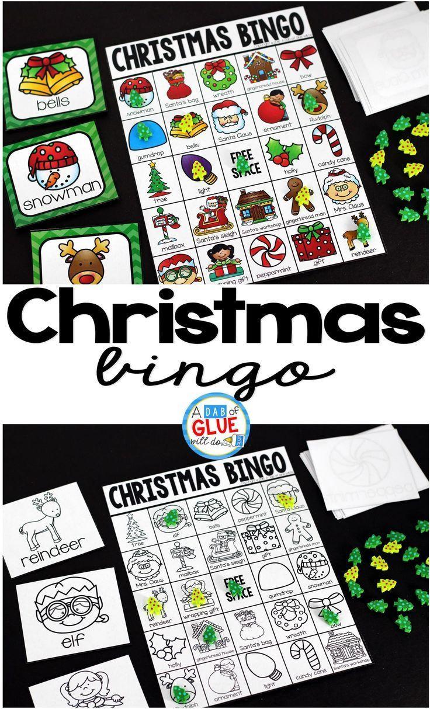 Christmas Bingo Christmas kindergarten, Christmas bingo