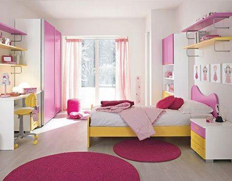 Dormitorio de chica en rosa habitaciones pinterest - Habitaciones juveniles nina ...