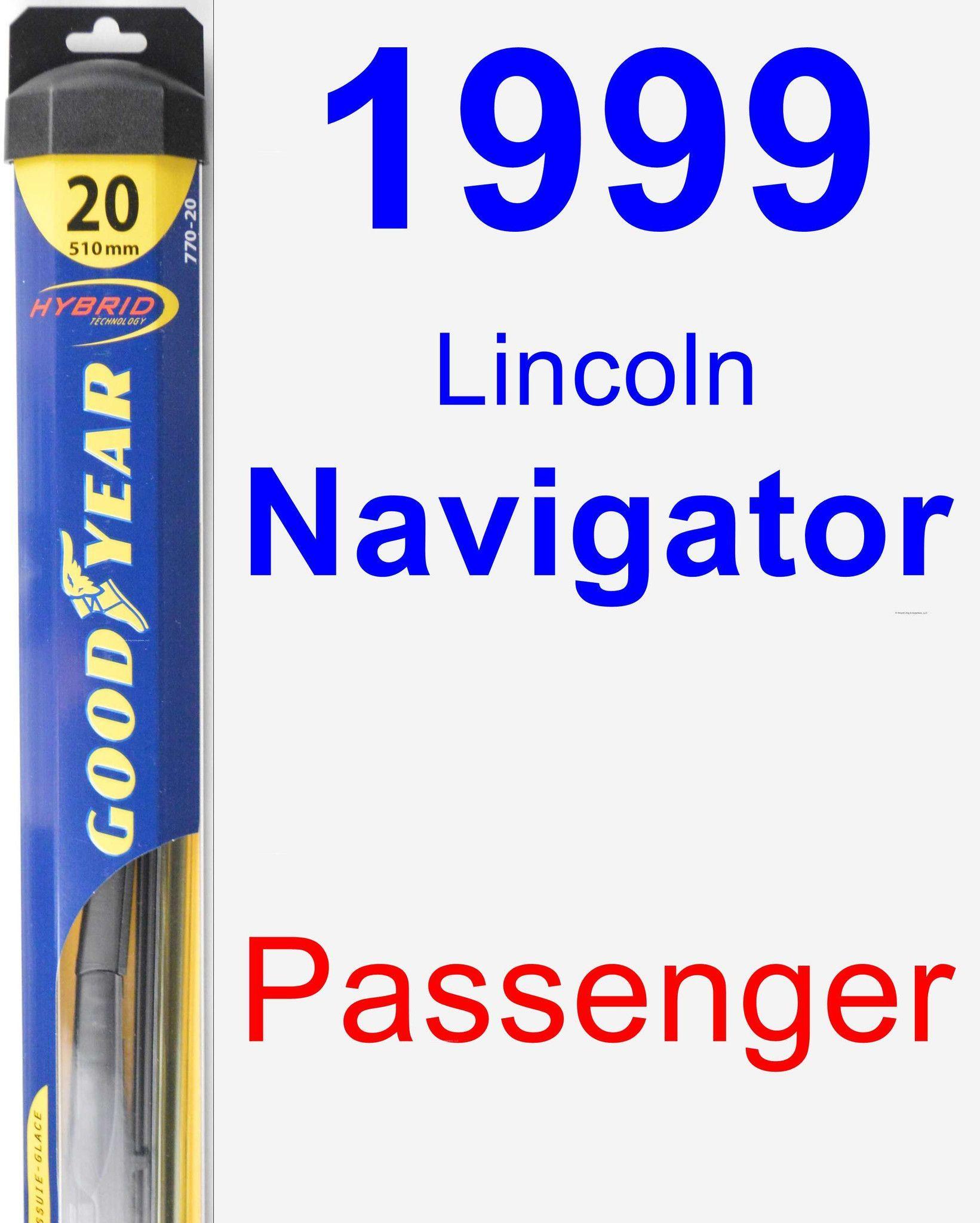 Passenger Wiper Blade For 1999 Lincoln Navigator