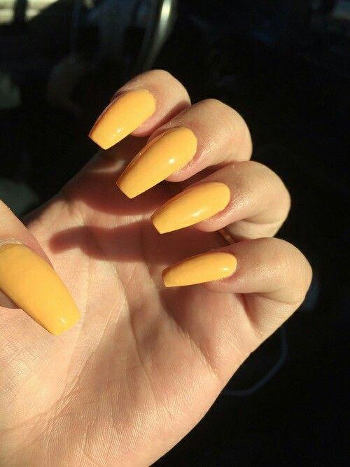 Mostaza Uñas Amarillas Uñas De Gel Y Manicura De Uñas