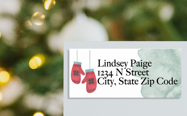 Christmas Address Labels Family Name Stickers Christmas Gift Stickers Custom Gift Labels Custom Address Labels Return Label Envelope In 2020 Christmas Address Labels Christmas Gift Sticker Name Stickers