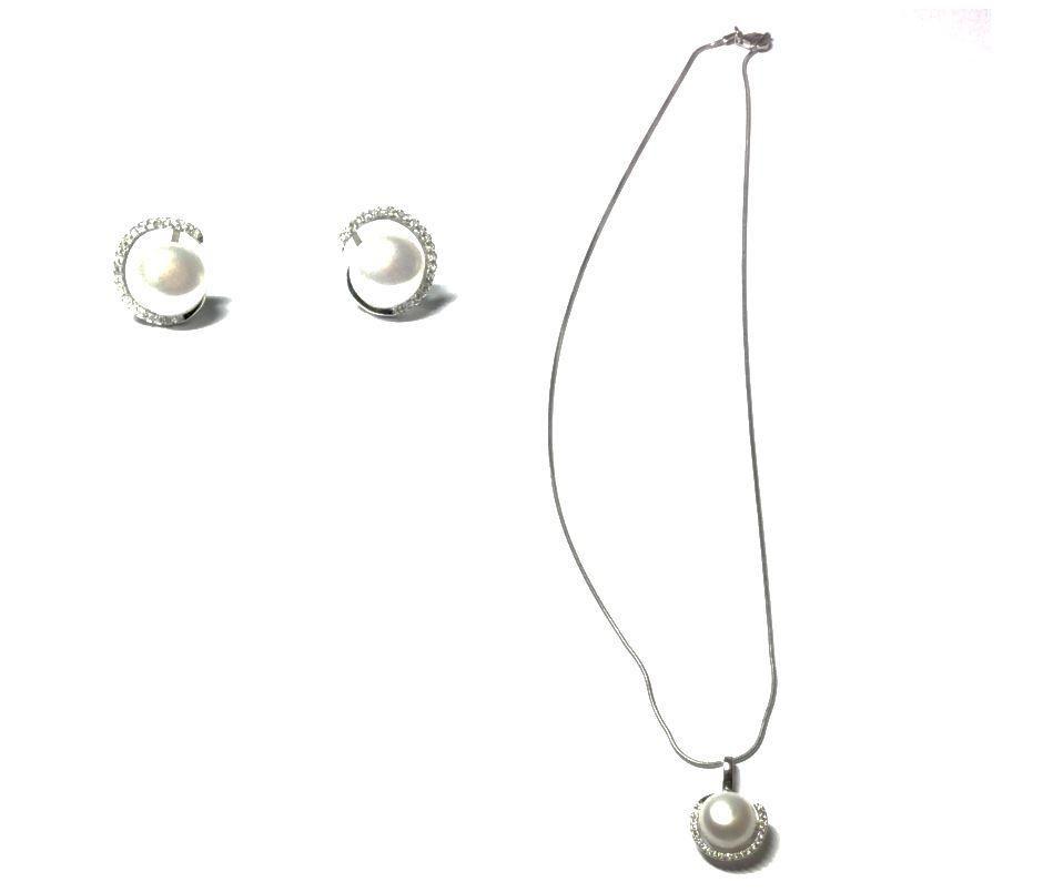 f16689bd61ea Conjunto Joyas Mujer Plata y Perlas - Circle Pearl - Valentina Salerno -  Joyería