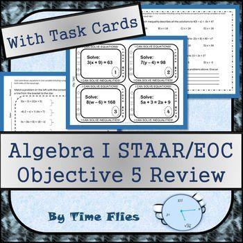 Algebra I STAAR/EOC Objective 5 Review | Algebra i ...