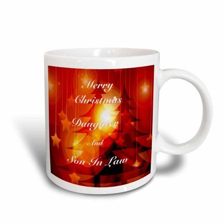 3dRose Print of Christmas For Daughter And Son In Law, Ceramic Mug, 15-ounce