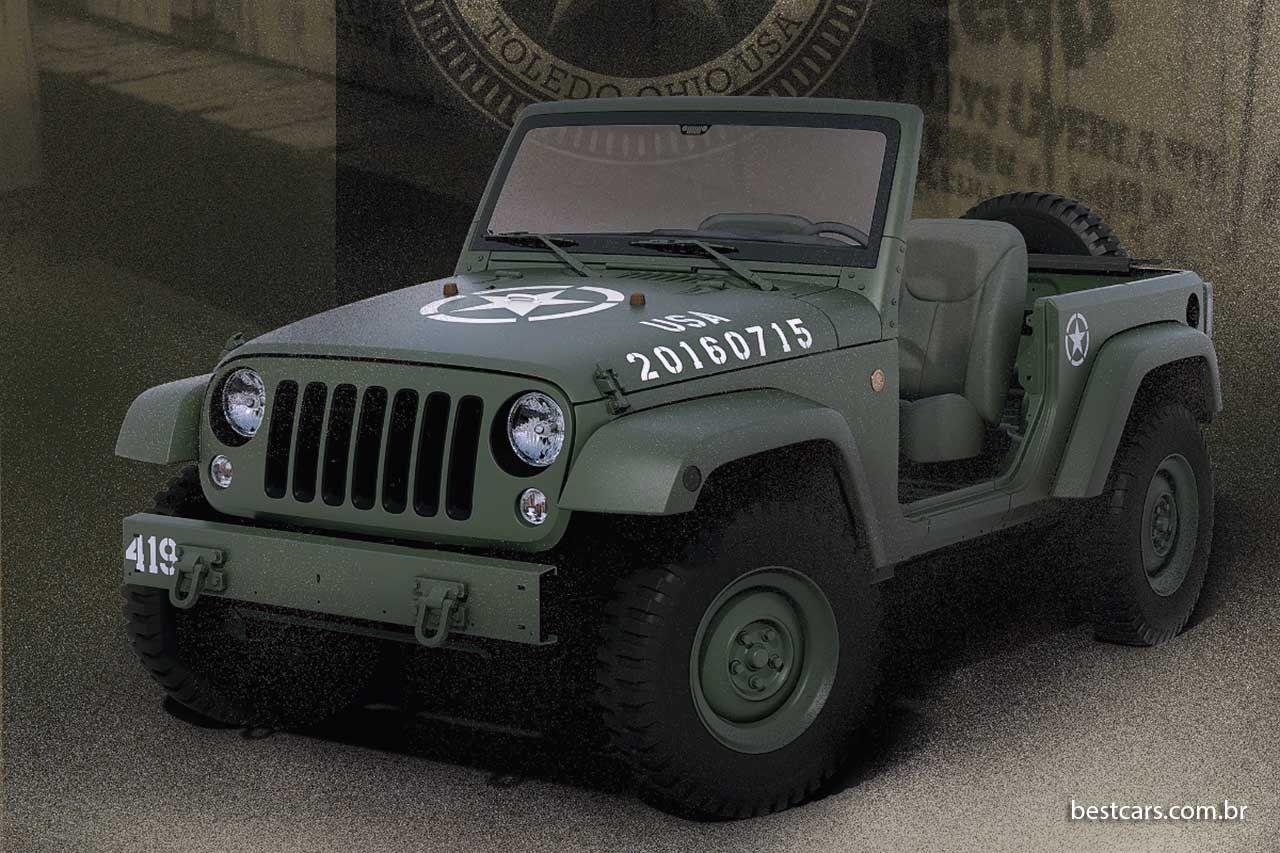 Wrangler Salute Comemora 75 Anos Do Jeep Militar Jeep Willys