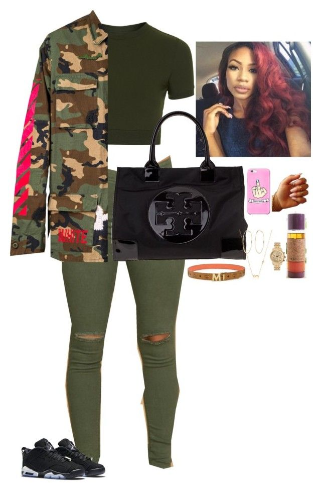 """""""Where Ya At"""" by bellarose99 ❤ liked on Polyvore featuring Topshop, Off-White, Retrò, Tory Burch, MCM, River Island, Sydney Evan and Michael Kors"""