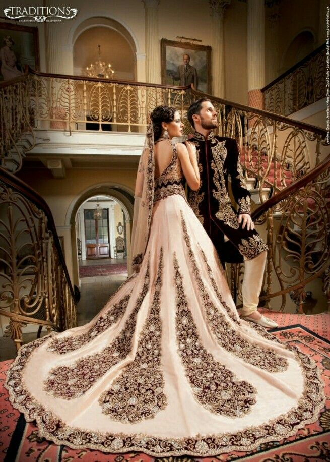 Asian gown wedding above