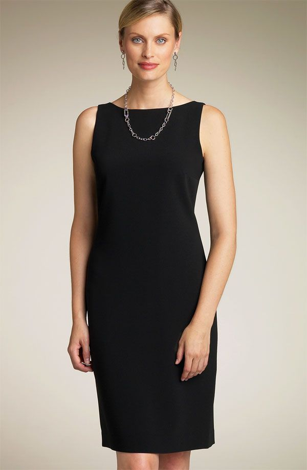 If I could, I'd wear my black sheath dress to work every day with ...