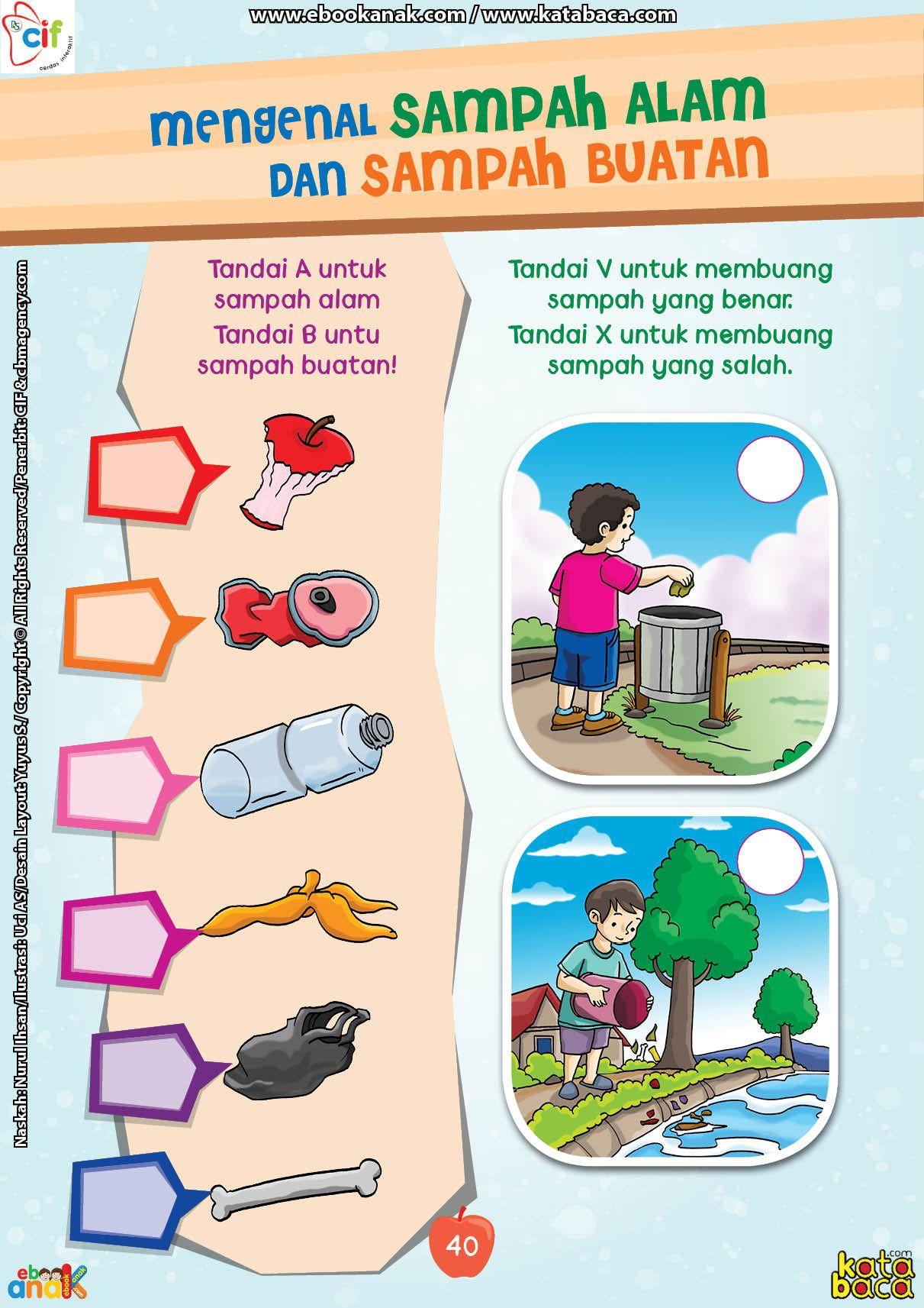 Mengenal Sampah Buatan Dan Sampah Alam Kegiatan Untuk Anak Pendidikan Pendidikan Anak Usia Dini