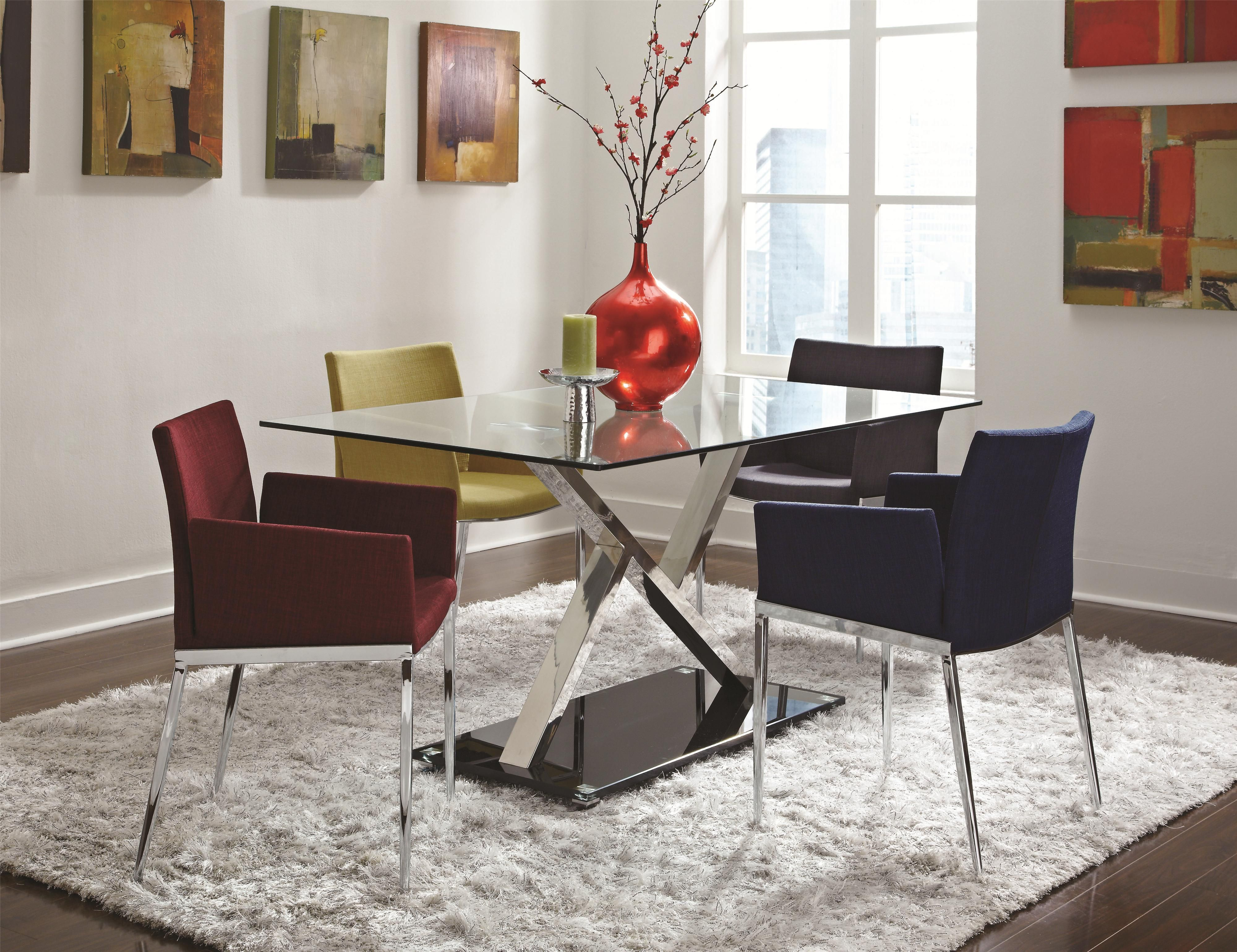 Cappuccino Solid Wood Dinette Sets Plus Rug And Glass Top Table For - Solid wood dinette table