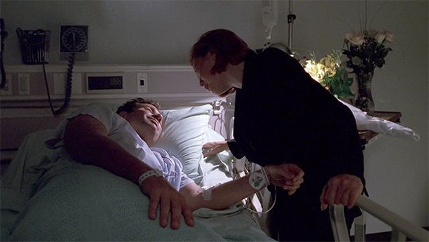 """Mulder Tells Scully That He Loves Her (Season 6, Episode 3)    After a Wizard of Oz-esque trip to a 1939 ocean liner populated by alternate versions of familiar faces, Mulder wakes up in the hospital and, on a cocktail of painkillers, tells Scully that he loves her. The only """"I love you"""" ever exchanged between the pair is met on Scully's end with a sigh and an """"Oh, brother"""" — but, notably, no surprise. She already knew."""