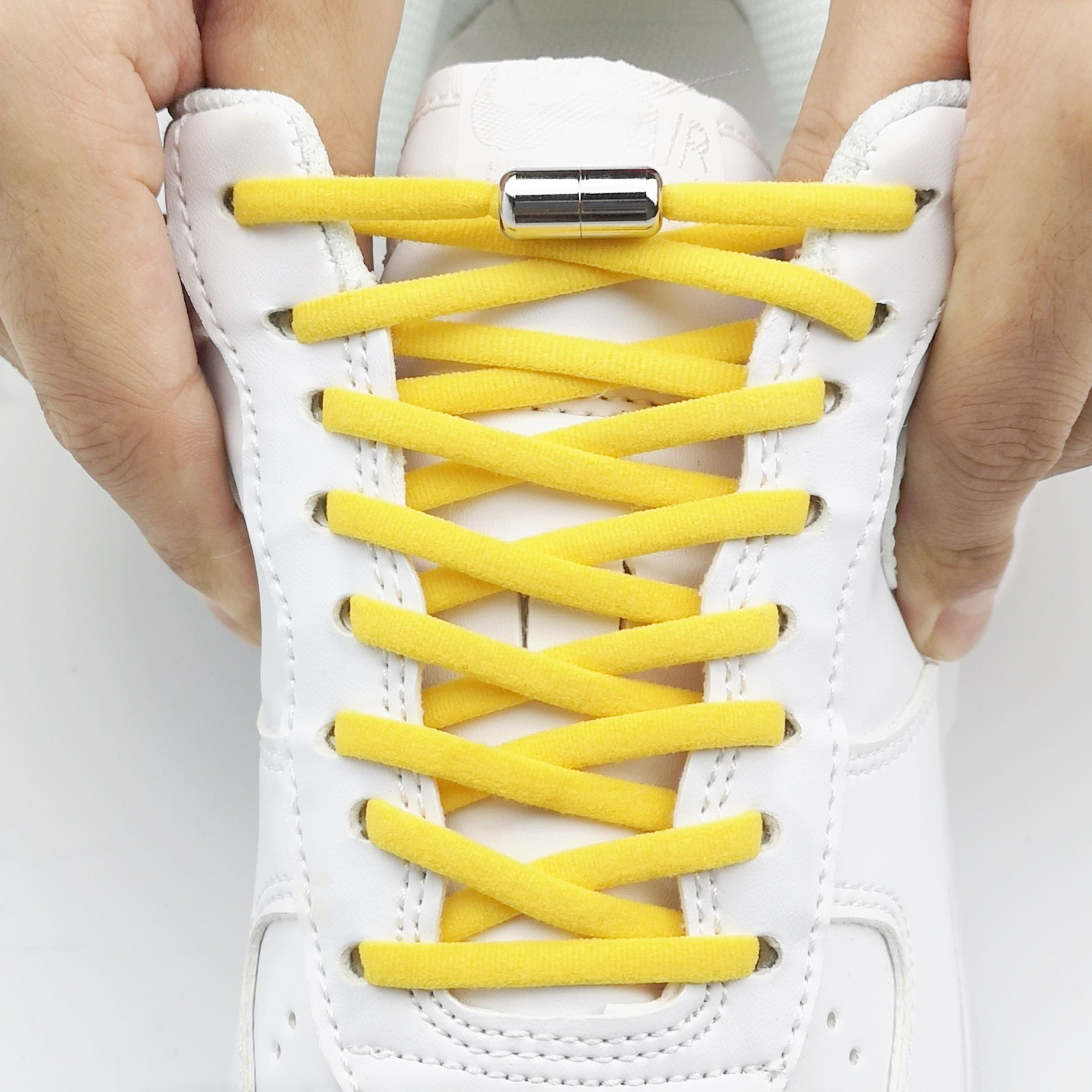 "27 /"" shoelace round shoe lace sneakers string  YELLOW"