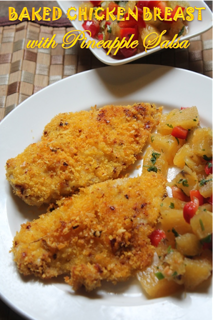 Baked crispy chicken breast with pineapple salsa recipe yummy tummy baked crispy chicken breast with pineapple salsa recipe continental food 3 forumfinder Gallery