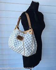 78bee4b49aed3b Authentic Louis Vuitton Galliera PM in Damier Azur shoulder bag with dust  bag