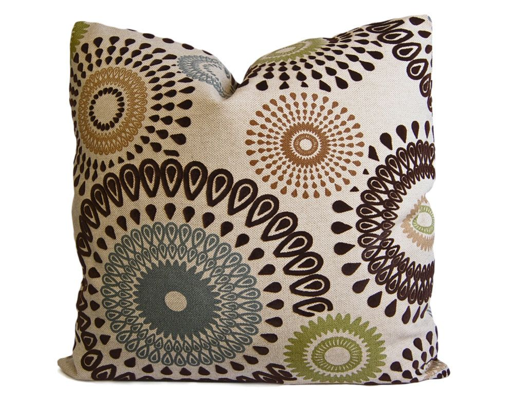 Etsy Throw Pillows Brown Olive And Slate Suzani Decorative Pillow Cover Throw