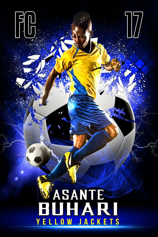 Player Banner Photo Template Shattered Soccer Ball Pinterest - Sports banner templates