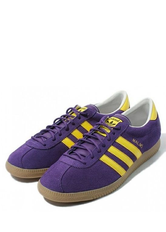 adidas Originals Malmo: Purple/Yellow   Adidas retro, Sneaker head ...
