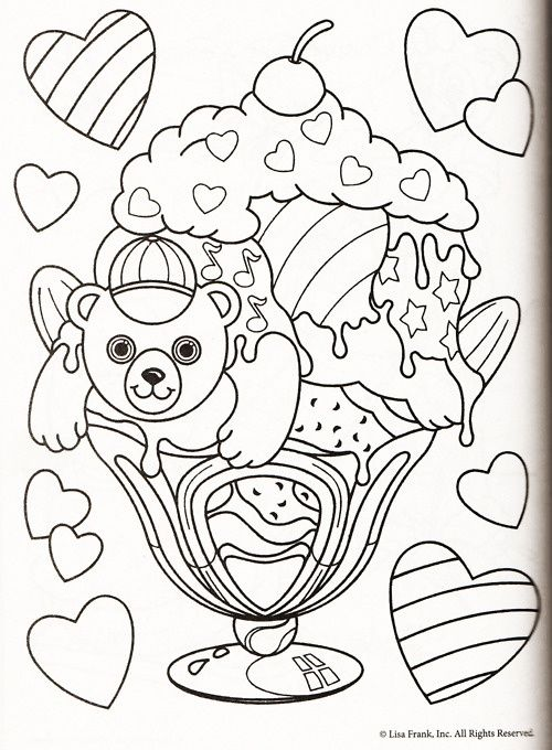 lisa frank coloring pages - Lisa Frank Coloring Books