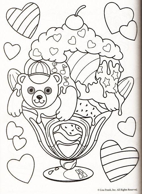 Lisa Frank Coloring Pages | Lisa Frank | Pinterest | Dibujo
