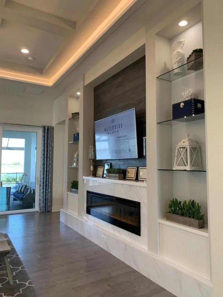 37 Amazing Tv Unit Design Ideas For Your Living Room Feature Wall Living Room Living Room Design Modern Tv Room Design
