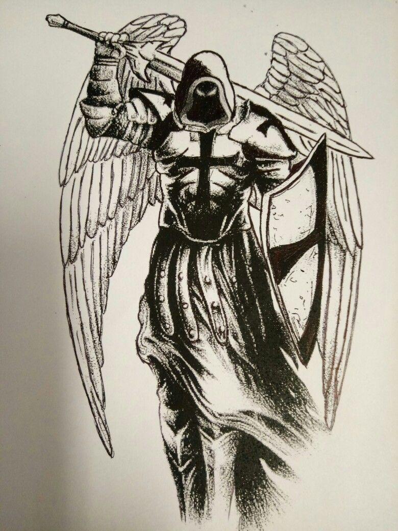 Angel De La Muerte Archangel Tattoo Warrior Tattoos Archangels
