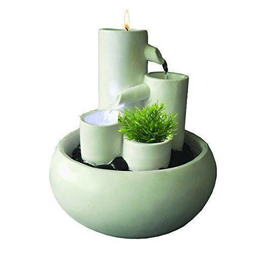 """Rondo"""", Petite Fontaine D'Intérieur Zen Et Déco - Coloris Blanc (Réf"""