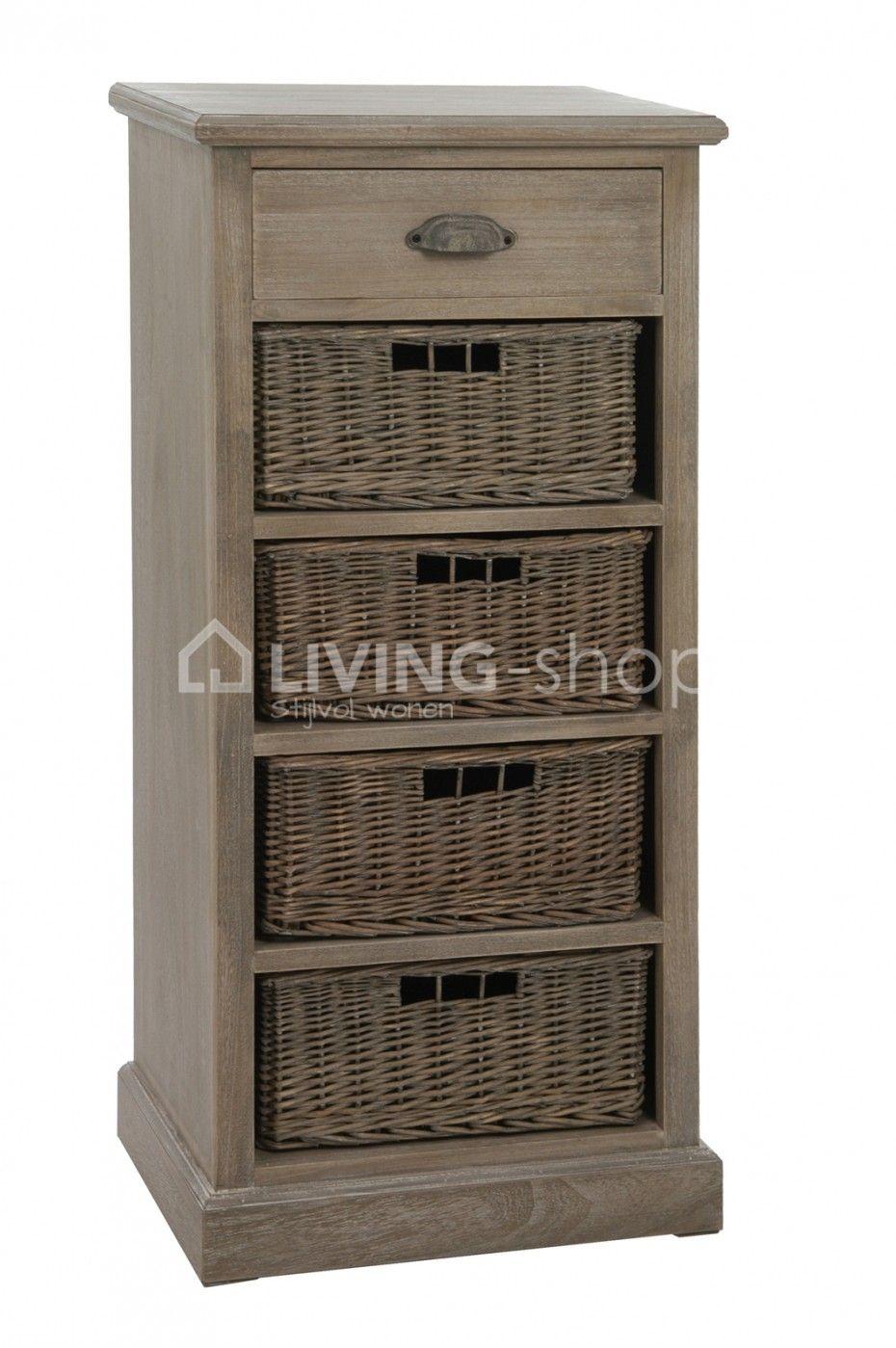 Cabinet Avec Paniers J Line Boutique En Ligne Living Shop Fr Petit Meuble Rangement Mobilier De Salon Meuble Rangement