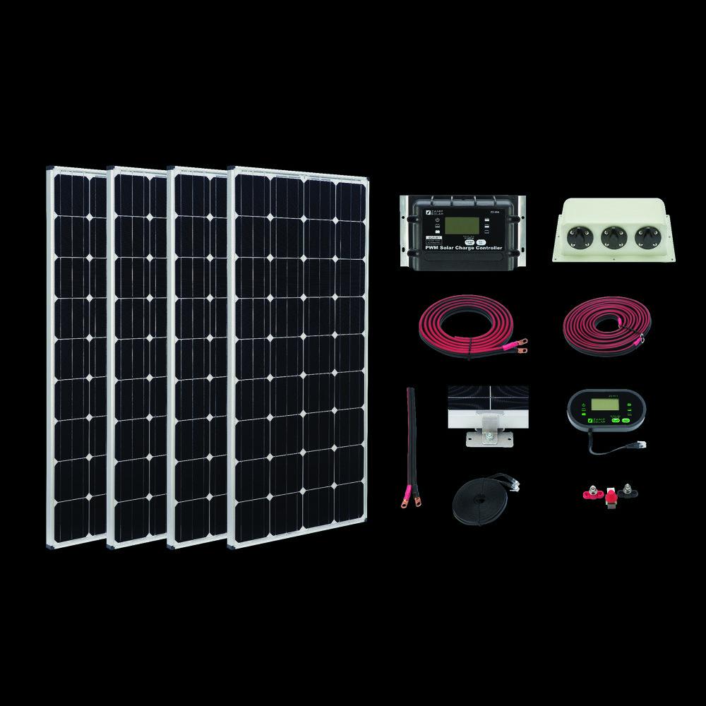 Usa Zamp 640 Watt Deluxe Large Rv Solar Panel Kit Solar Energy Panels Solar Panel Kits Solar Power Panels