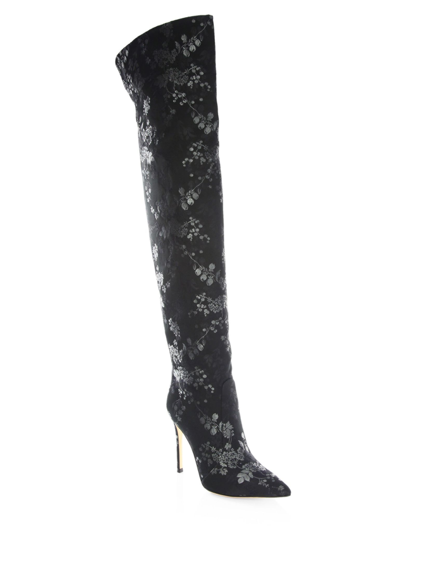 Gianvito RossiFloral Print Over-The-Knee Boots GPAcx6l