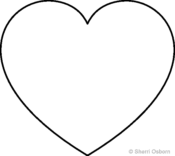 Heart template pattern printables pinterest heart for Full page heart template