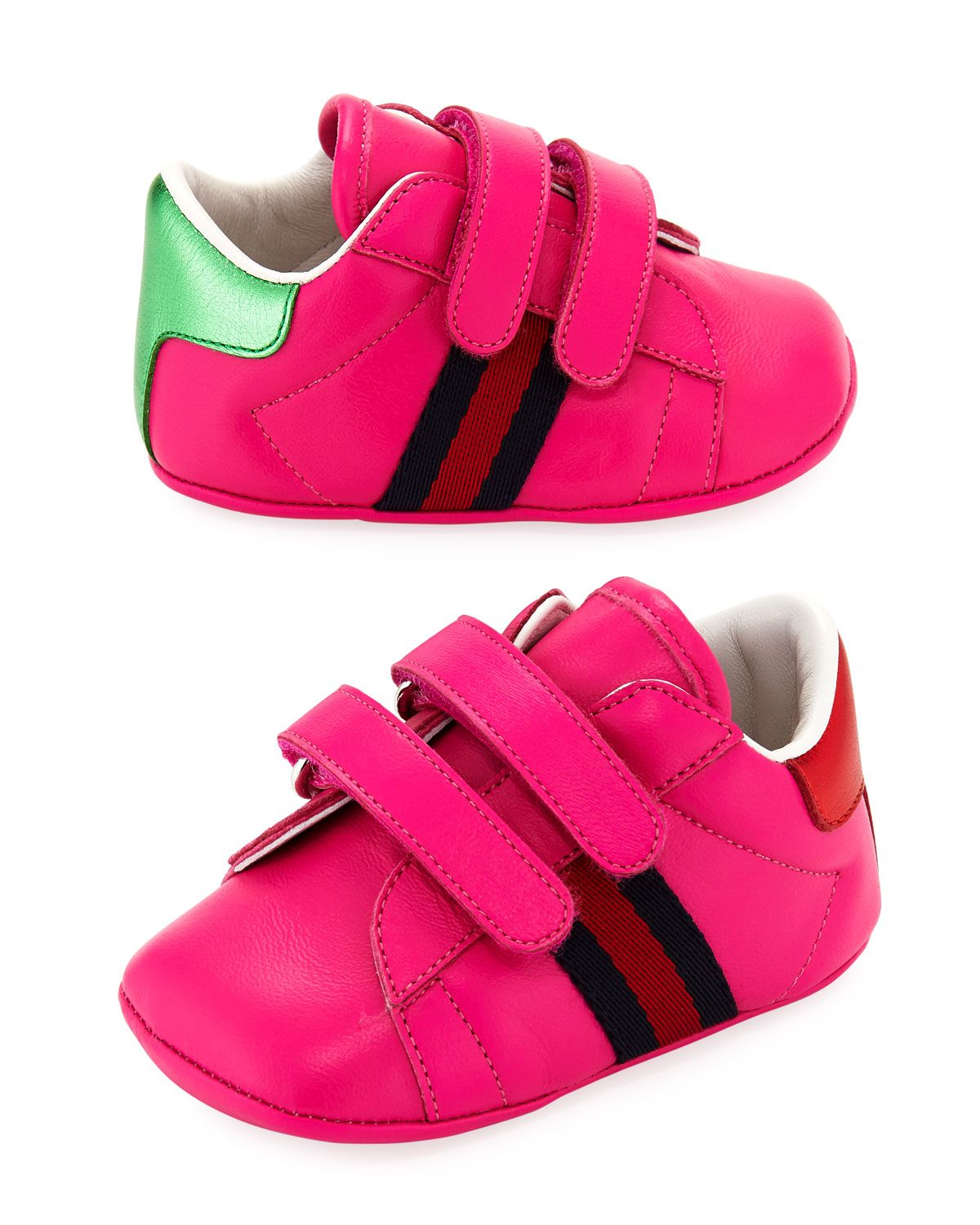 dc8837e82 GUCCI NEW ACE LEATHER GRIP-STRAP SNEAKER, BABY. #gucci #shoes ...