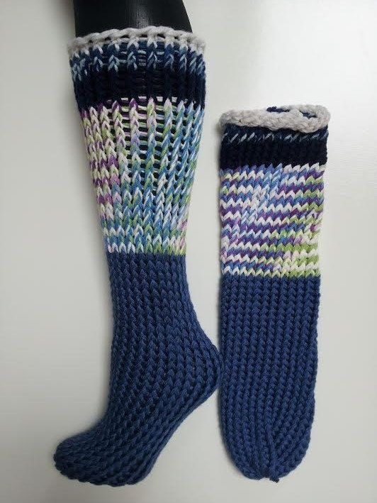 5efbbf04d7f8b Hand knitted socks gardening socks ombre striped by LoomOfAFruit, $35.00