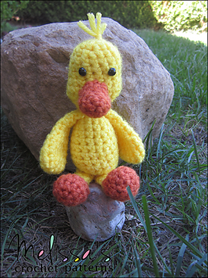 Puddles The Tiny Duck Free Crochet Pattern By Melissaspattrns