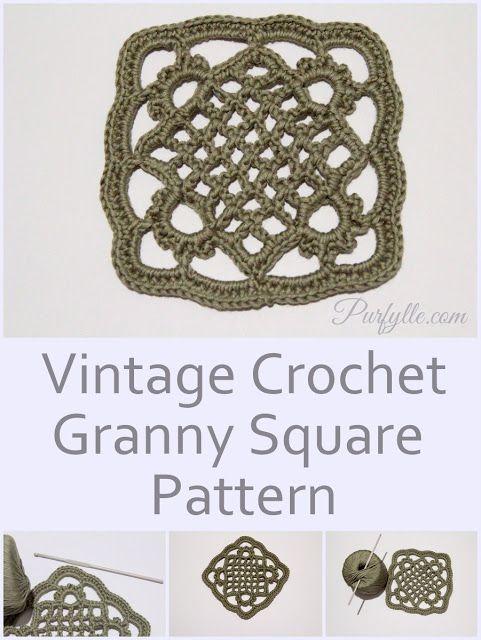 Eivor\'s Crochet Granny Square - Free Pattern at Purfylle | Vintage ...