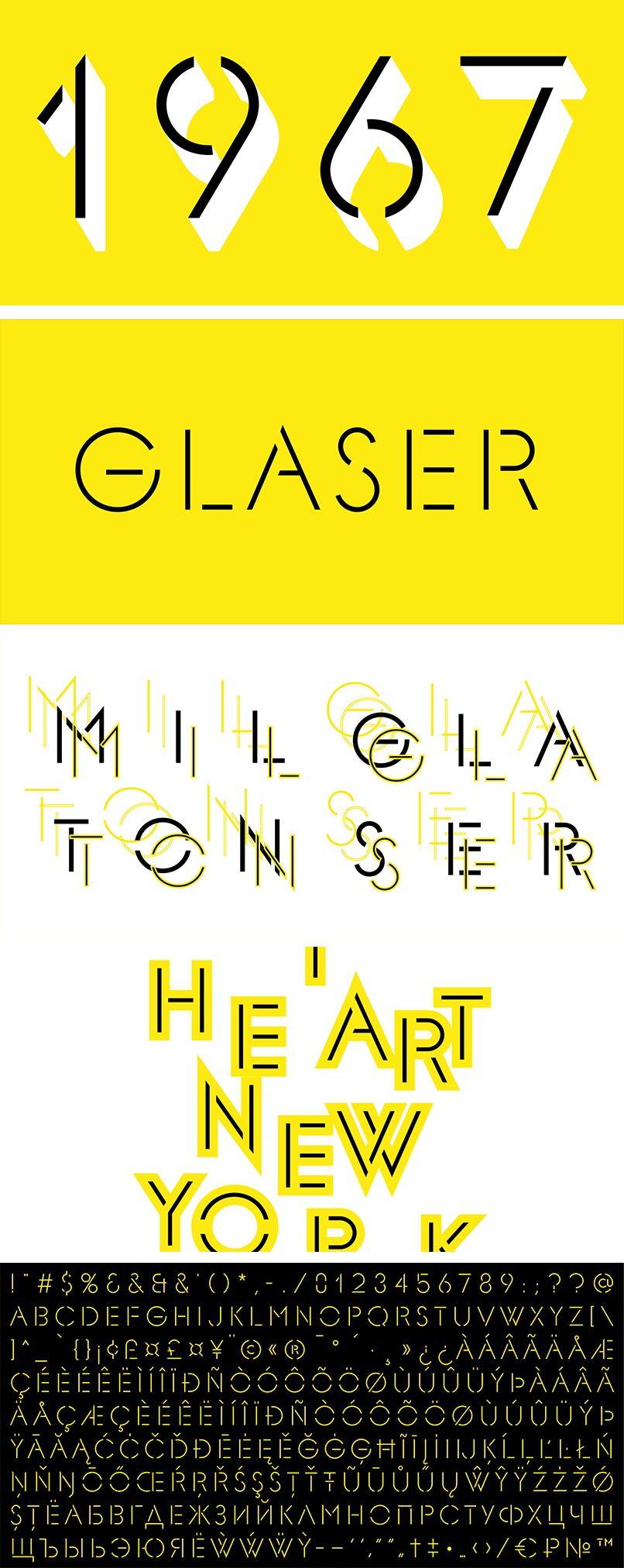 F37 Glaser Stencil | Milton glaser, Sketch book, Magazine ...