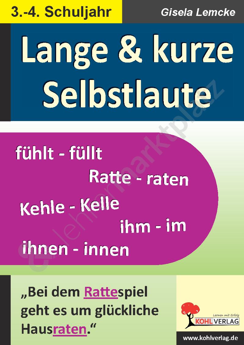 Lange und kurze Selbstlaute – Deutsch | Kohl Verlag | Pinterest ...