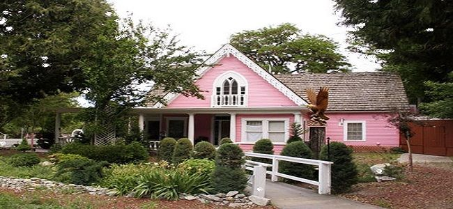 Funky Exterior Wood Paint With Pink And White