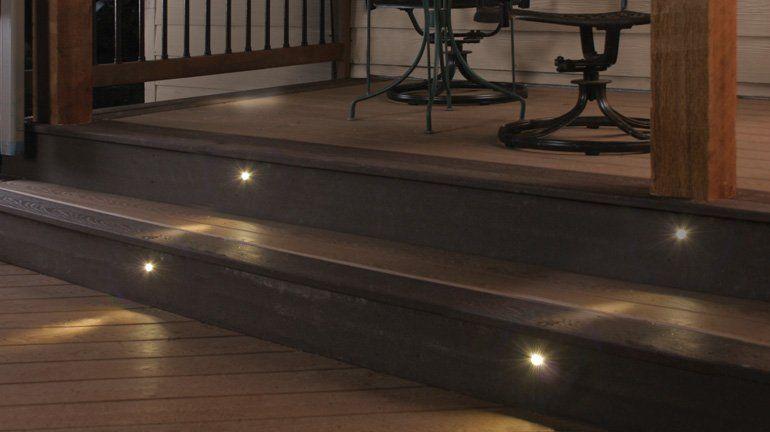 Wooden Stair Tread Lights Stair Lighting Deck Stair Lights | Outdoor Wood Stair Treads | Riser | Heavy Timber | Wood Beam | External | Step
